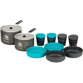 Sea to Summit Alpha 2 Pot Cook Set 4.2 - gris/turquoise